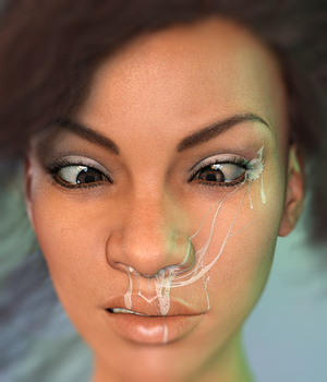 L.I.E. Snot And Slime Faces For Genesis 3 Female 3D Figure Assets fictionalbookshelf