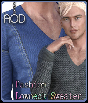 Fashion: Lowneck Sweater IRay 3D Figure Essentials ArtOfDreams