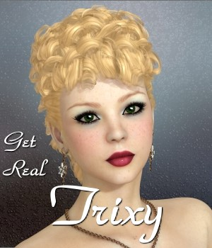 Get Real for Trixy hair 3D Figure Assets chrislenn
