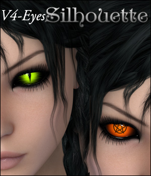 Silhouette - V4 Eyes 3D Figure Essentials P3D-Art