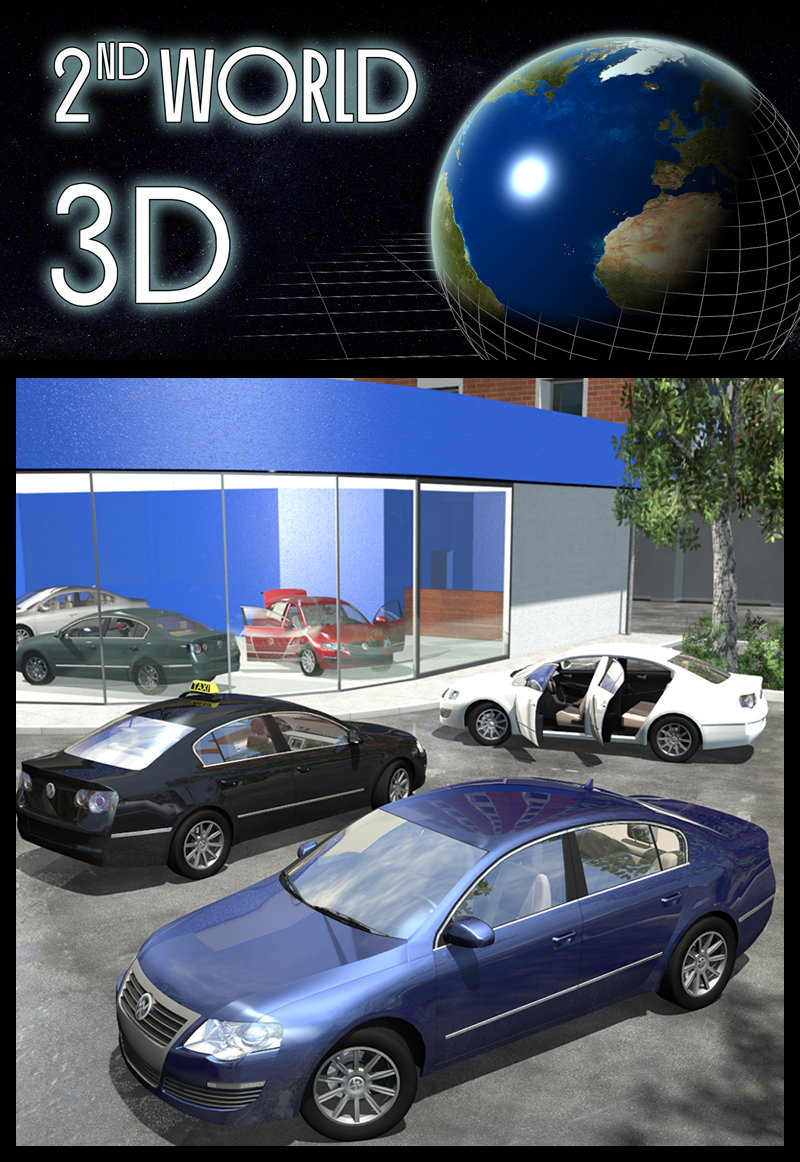 Everyday cars, 4 door sedan - Extended License by 2nd_World