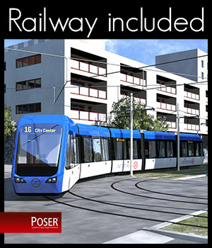 Modern City Tram - Extended License 3D Models Extended Licenses 2nd_World