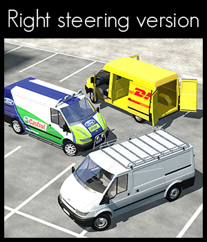 Transit Van, right steering version. - Extended License 3D Models Extended Licenses 2nd_World