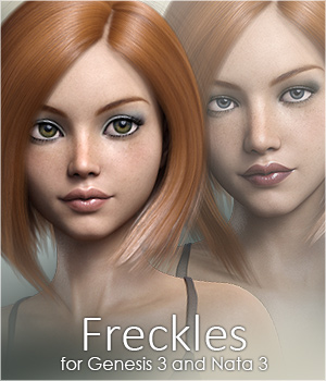 FWSA Freckles for Genesis 3 and Nata 3D Figure Assets Sabby