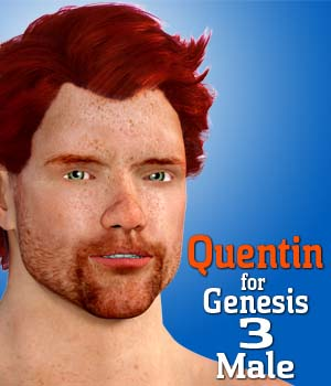 Quentin for Genesis 3 Male 3D Figure Essentials Dave