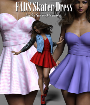 FADS Skater Dress for Genesis 3 3D Figure Assets RPublishing