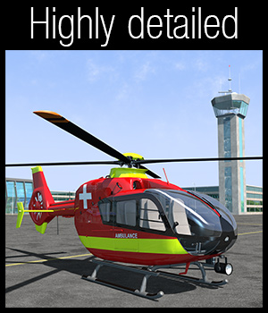 Aerocopter EC135 - Extended License 3D Models Extended Licenses 2nd_World