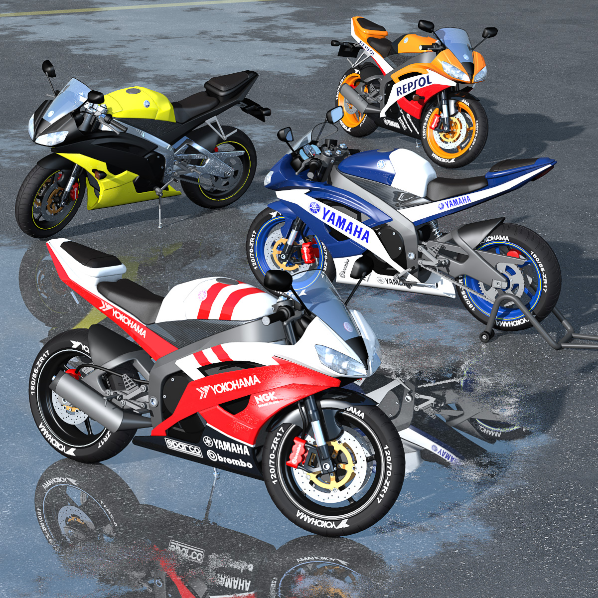 Racing Motorcycle R6 - Extended License by 2nd_World