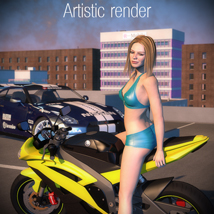 Racing Motorcycle R6 - Extended License image 6
