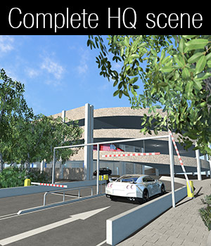 Multi-storey car park - Extended License 3D Models Extended Licenses 2nd_World