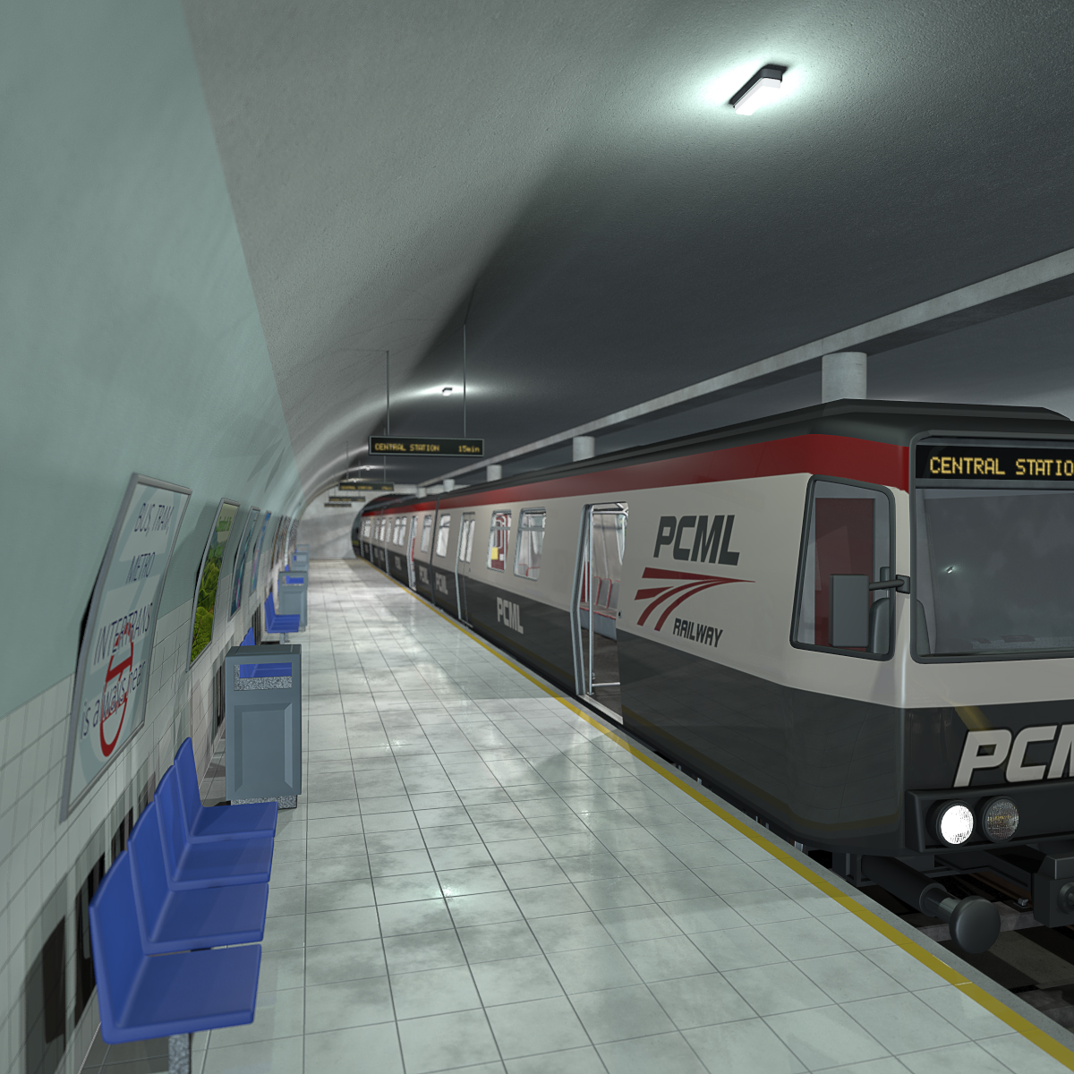 Metro and subway station - Extended License