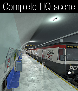 Metro and subway station - Extended License - Gaming - 2nd_World