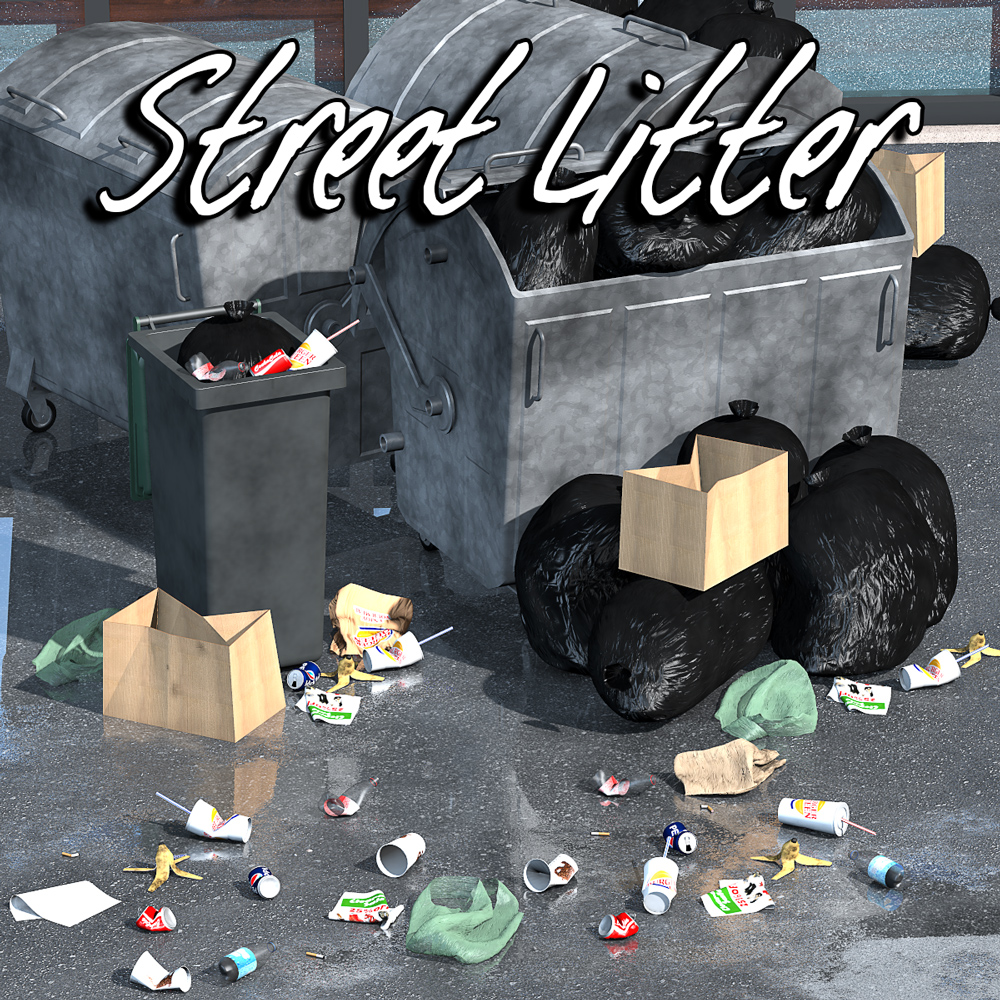 Everyday items, Street litter - Extended License
