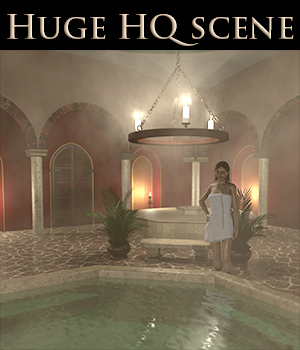 Bath house scene - Extended License 3D Models Extended Licenses 2nd_World
