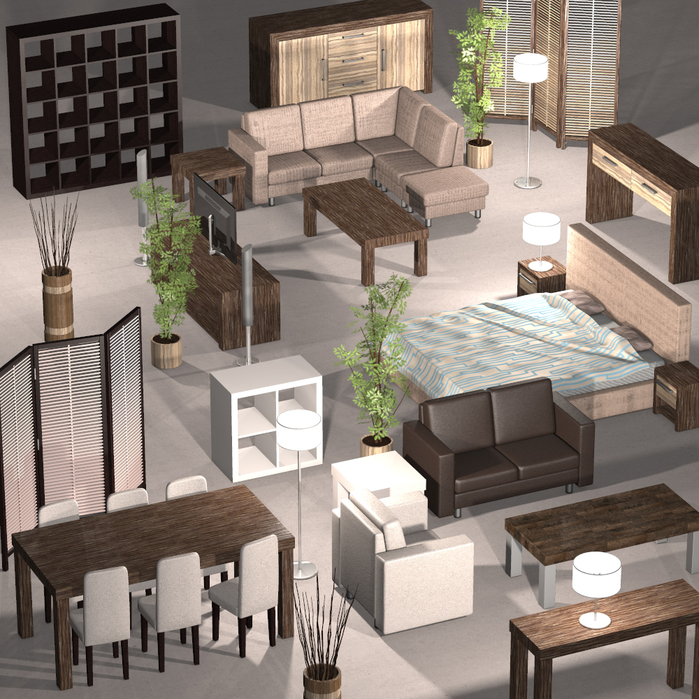 Everyday items, Furniture collection 1 - Extended License