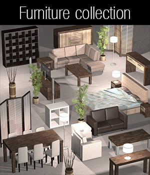 Everyday items, Furniture collection 1 - Extended License 3D Models Extended Licenses 2nd_World
