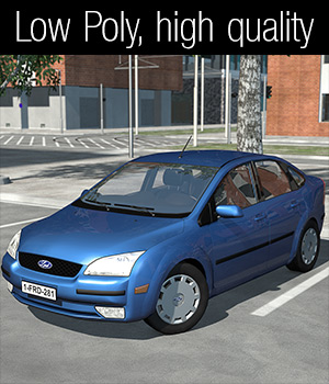 Low Poly Car 1 - Extended License 3D Models Extended Licenses 2nd_World