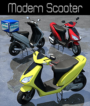 Modern Scooter - Extended License 3D Models Extended Licenses 2nd_World