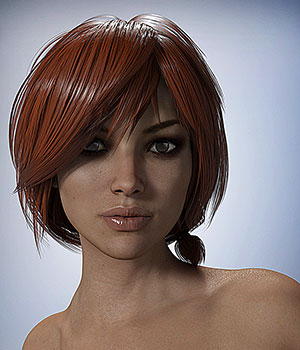 Nata 3 Hair for Genesis 3 Female 3D Figure Assets smay