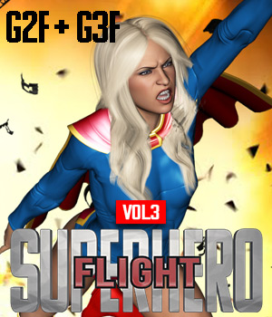 SuperHero Flight for G2F & G3F Volume 3  3D Figure Assets GriffinFX