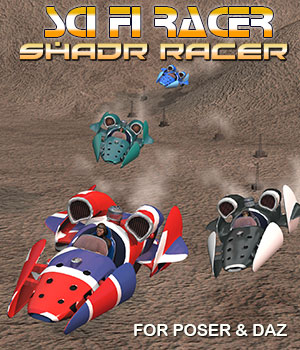 Sci-Fi Vehicle Shadr Racer 3D Models Simon-3D