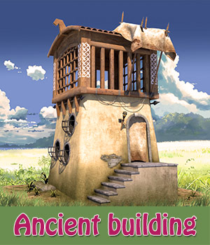 Ancient building 3D Models 1971s