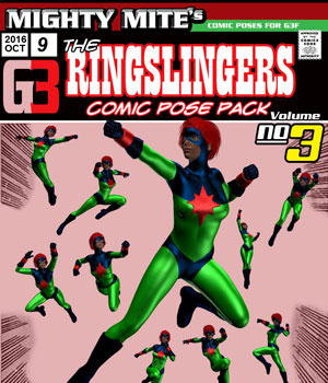 The Ringslingers v03 : By MightyMite for G3F 3D Figure Essentials MightyMite