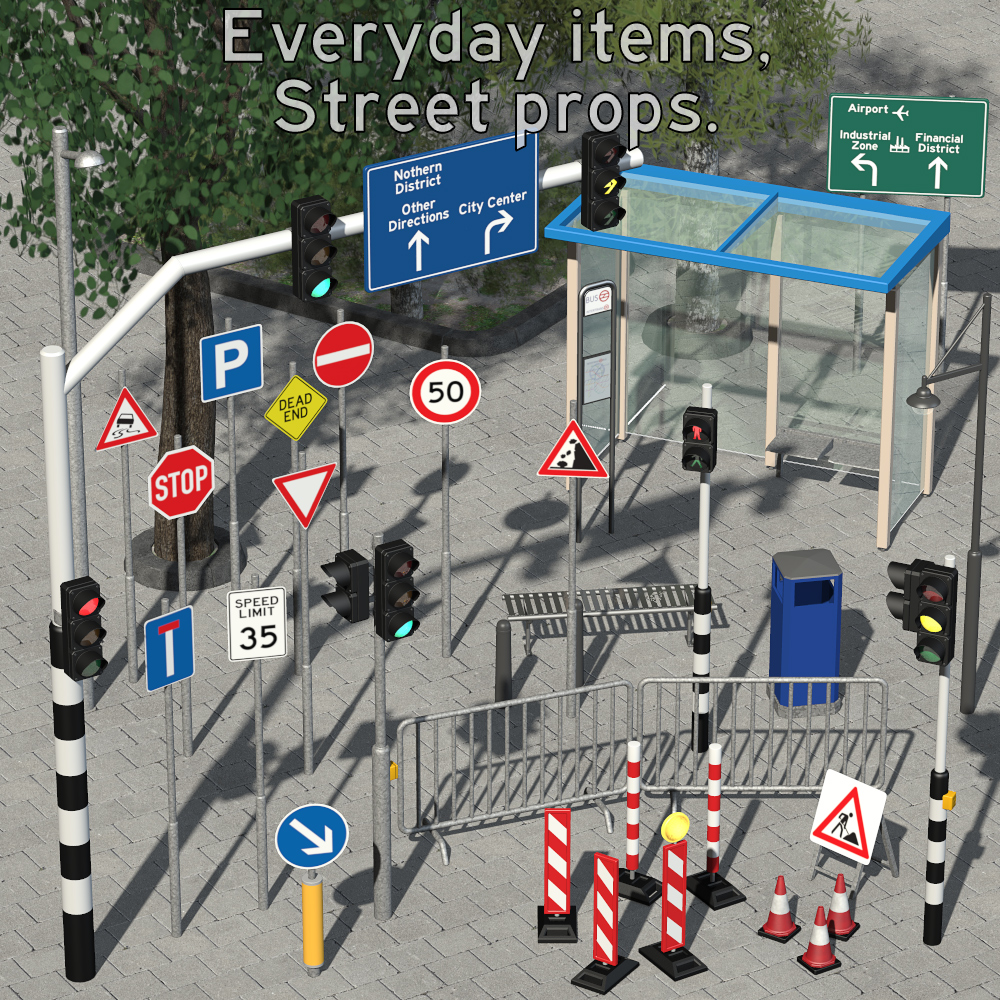 Everyday items, Street props - Extended License