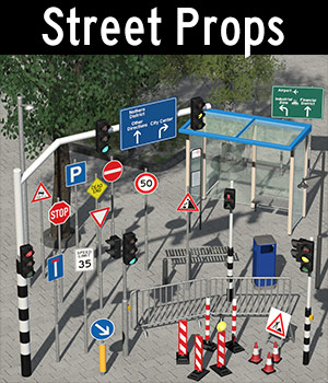 Everyday items, Street props - Extended License 3D Models Extended Licenses 2nd_World