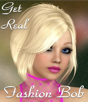 Get Real for Fashion Bob Hair 3D Figure Assets chrislenn