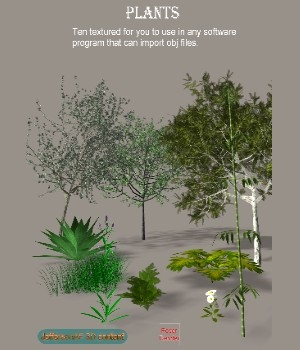 Plants Object format 3D Models JeffersonAF