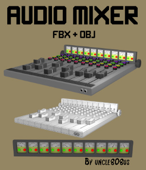 Audio Mixer FBX_OBJ  3D Models uncle808us