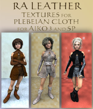 RA Leather 3D Figure Assets RAGraphicDesign