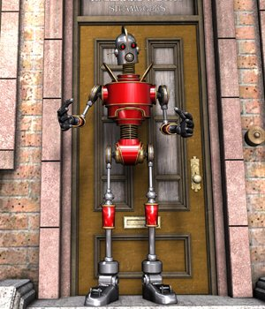 Vintage Robot for Poser 3D Models VanishingPoint