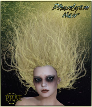 Phantasm Hair for Poser 3D Figure Essentials prae