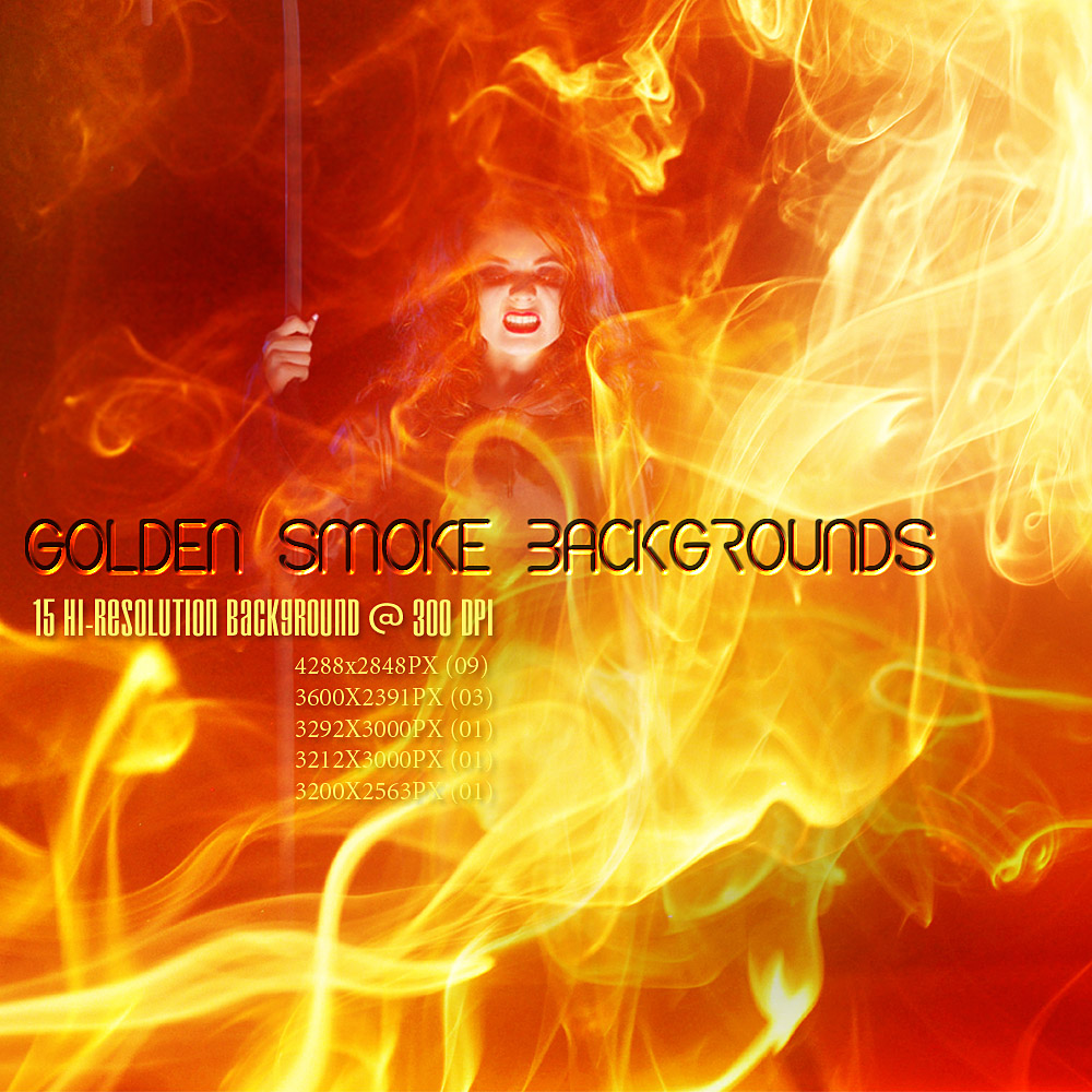 GOLDEN SMOKE Backgrounds