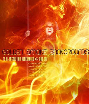 GOLDEN SMOKE Backgrounds 2D Graphics RajRaja