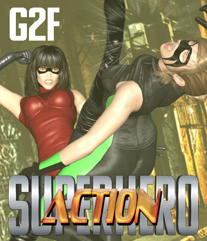 SuperHero Action for G2F Volume 1 3D Figure Essentials GriffinFX