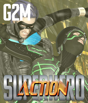 SuperHero Action for G2M Volume 1 3D Figure Assets GriffinFX