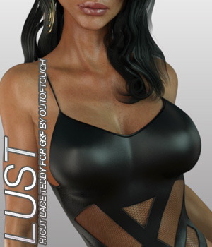 LUST - HiCut Lace Teddy for Genesis 3 Females and Nata3 3D Figure Essentials Anagord