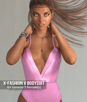 Fashion V-Bodysuit for Genesis 3 Females 3D Figure Assets xtrart-3d
