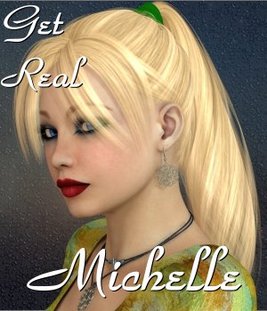 Get Real for Michelle's Ponytail Hair 3D Figure Assets chrislenn