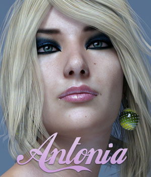 Antonia Antiah for G3F 3D Figure Assets Anain