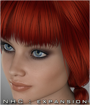 NHC Expansion : Nata Hair 3D Figure Assets P3D-Art