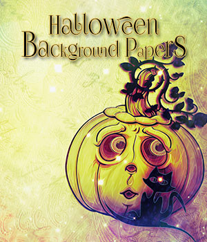Halloween Background Papers 2D antje