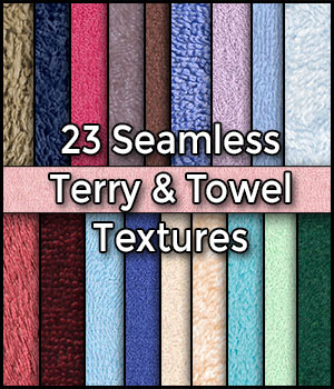 23 Hi-Res Realistic Seamless Towel and Terry Cloth Fabric Textures Pack 2D CGElves