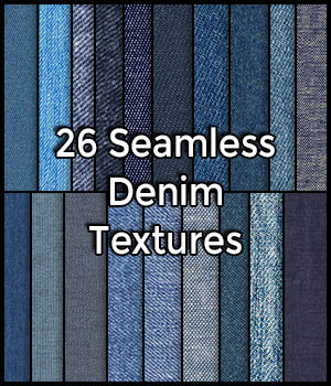 26 Hi Res Realistic Seamless Denim Jeans Fabric Textures Pack 2D Merchant Resources CGElves