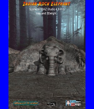 Indian Rock Elephant DAZ 3D Models JeffersonAF
