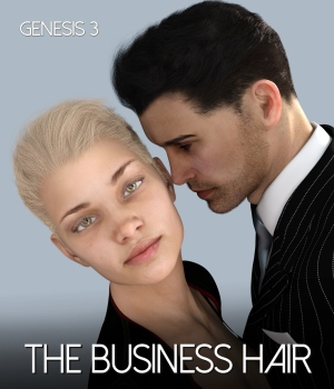The Business Hair for Genesis 3 Male and Female 3D Figure Assets RedzStudio