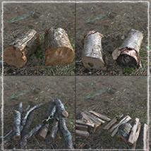 3D Scenery: Woodcutter's Yard image 5
